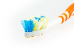 Used toothbrush Stock Photos
