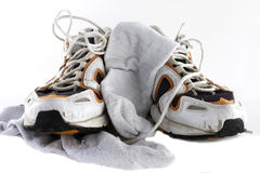 Used Trainers Royalty Free Stock Photography