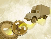 Used truck in vintage style Royalty Free Stock Images