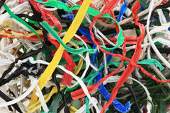 Used twist ties Stock Photo