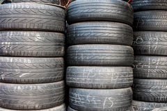 Used tyre Stock Image