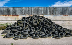 Used Tyre Stck Royalty Free Stock Photos