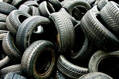 Used tyres 3. Used tyres waiting for recycling Royalty Free Stock Image