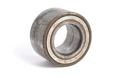 Used unuseful and dirty bearing. 1 used unuseful and dirty bearing on a white background Royalty Free Stock Image