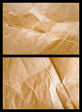 Used up parcel paper 2. Light and shadow on a used up brown wrapping paper sheet with wrinkles stock photography