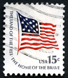 Used US Postage Stamp Stock Image