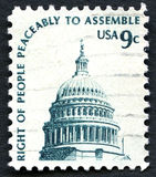Used US Postage Stamp Royalty Free Stock Image