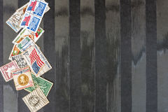 Used usa Postal Stamps royalty free stock photos
