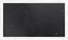 Blackboard with White Wooden Frame Stock Image