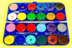 Simple watercolour paints palette Royalty Free Stock Image