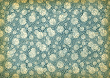 Used vintage wallpaper. With balls, art nouveau, grainy surface Stock Photography