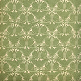 Used vintage wallpaper in green Stock Image