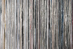 Used vinyl records Stock Images