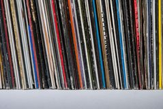 Used vinyl records Stock Photos