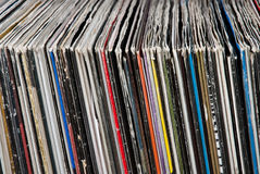 Used vinyl records Stock Image