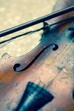 Used violin Royalty Free Stock Image