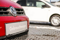 Used VW cars Stock Photography