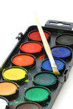 Used water color paint box Royalty Free Stock Images