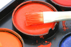 Used water color paint box Stock Photo