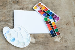 Used watercolor paintbox Royalty Free Stock Image