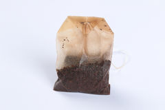 Used wet tea bag. On a white background Royalty Free Stock Photography
