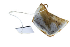 Used wet teabag. Isolated on a white background Stock Image