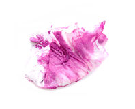 Used wet tissue isolate, remove make up color Royalty Free Stock Photos