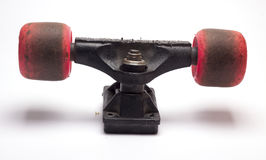 Used wheel skate on white background Stock Images