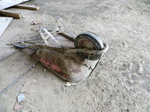 Used wheelbarrow at construccion site Stock Images