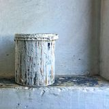 White paint bucket royalty free stock images