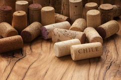 Used wine corks Stock Photo