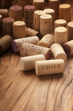 Used wine corks Royalty Free Stock Photos