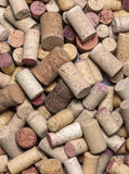 Used Wine Corks close up. Background of Various Used Wine Corks close up stock image