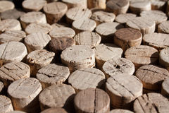 Used wine corks collection. Collection of used wine corks, with one of them standing out of the others Royalty Free Stock Photography