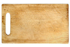 Used wooden chopping board Stock Photo
