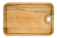 Used wooden cutting board Royalty Free Stock Images