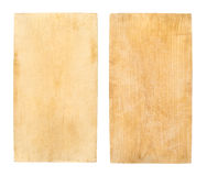 Used wooden cutting board Royalty Free Stock Photography
