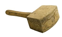 Used wooden hammer Stock Photography