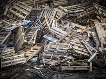 Used wooden pallets Stock Photos