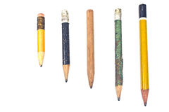 Used wooden pencil Royalty Free Stock Photo