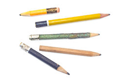 Used wooden pencil Stock Photo