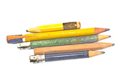 Used wooden pencil Stock Images