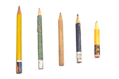 Used wooden pencil Stock Image