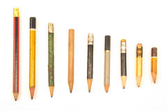 Used wooden pencils Stock Photography