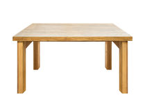 Used wooden table isolated. On white Royalty Free Stock Images