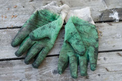 Used work gloves Stock Photography