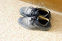 Used work shoes Stock Photography