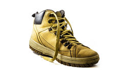 Used yellow boot Royalty Free Stock Photo
