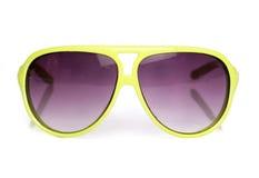 Used yellow retro sunglasses Royalty Free Stock Photo