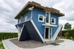 Upside Down House Royalty Free Stock Image